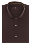 Solid Brown French Front San Carlos Tailored Sport Shirt | Robert Talbott Fall 2016 Collection  | Sam's Tailoring