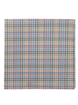 Yellow, Blue, Brown & Pink Check Pocket Sqaue 13"