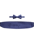 Navy With White Stripe Cummerbund With Self Tie Bow Tie | Robert Talbott Fall 2016 Collection  | Sam's Tailoring