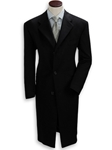 Hickey Freeman Black Cashmere Overcoat 095105001 - Outerwear | Sam's Tailoring Fine Men's Clothing