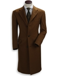 Hickey Freeman Brown Cashmere Overcoat 095105003 - Outerwear | Sam's Tailoring Fine Men's Clothing
