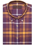 Plaid Made Up of Purples, Yellows & Whites Derby Derby Sport Shirt | Robert Talbott Fall 2016 Collection  | Sam's Tailoring