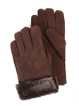 Suede Brown Brisa Sheepskin Men Glove | Aston Leather Fall 2016 Collection | Sam's Tailoring