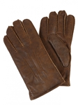 Rugged Whiskey Sheepskin Top Stitched Men Gloves | Aston Leather Fall 2016 Collection | Sam's Tailoring