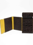 Brown Embossed Alligator Calfskin Cash Cover |  Torino leather fall 2016 | Sam's Tailoring