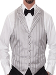 Silver Stripe With Five Button Front Closure Formal Vest | Robert Talbott Formal Wear   | Sam's Tailoring