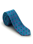 Blue with Magenta and Navy Polka Dots Welch Margetson Best of Class Tie  | Robert Talbott Spring 2017 Collection | Sam's Tailoring