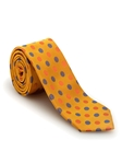 Yellow with Orange and Blue Polka Dots Welch Margetson Best of Class Tie  | Robert Talbott Spring 2017 Collection | Sam's Tailoring