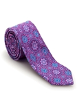 Lavender and Blue Medallion Welch Margetson Best of Class Tie  | Robert Talbott Spring 2017 Collection | Sam's Tailoring