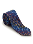 Navy Geometric Welch Margetson Best of Class Tie | Robert Talbott Spring 2017 Collection | Sam's Tailoring