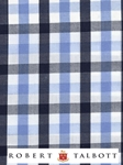 Sky and Navy Gingham Check Custom Shirt | Robert Talbott Custom Shirts  | Sam's Tailoring