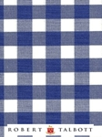 "Blue and White Bold 3/8"" Check Custom Shirt 