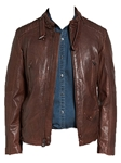 Antique Brown Mad Max Leather JacketNavy Leather Oiled Nubuck Jacket | Robert Comstock Leather Jackets | Sam's Tailoring