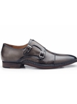 Antique Grey Genuine Italian Calf Frankfurt Shoe | Belvedere Spring 2017 Collection | Sams Tailoring