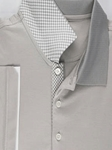 Silver Savannah I Polo Shirt | Aristo 18 Polo Collection | Sam's Tailoring Fine Men Clothing