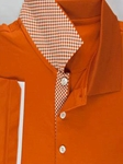 Peach Savannah I Cotton Polo Shirt |  Aristo 18 Polo Collection | Sam's Tailoring Fine Men Clothing