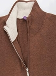 Russet Melange Angus 1/4 Zip Mock Sweater  |  Aristo 18 Sweater Collection | Sam's Tailoring Fine Men Clothing