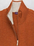 Apricot Angus 1/4 Zip Mock Sweater |  Aristo 18 Sweater Collection | Sam's Tailoring Fine Men Clothing
