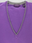 Violet Melange Perth V-Neck Sweater |  Aristo 18 Sweater Collection | Sam's Tailoring Fine Men Clothing