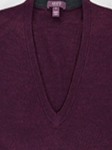 Blackberry Melange Perth V-Neck Sweater  |  Aristo 18 Sweater Collection | Sam's Tailoring Fine Men Clothing
