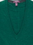 Emerald Melange Perth V-Neck Sweater |  Aristo 18 Sweater Collection | Sam's Tailoring Fine Men Clothing