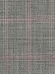Grey With Pink Check Aberdeen Pleated Trouser  |  Aristo 18 Pants Collection | Sam's Tailoring Fine Men Clothing