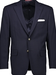 Big and Tall Navy Hopsack Portly Fit Blazer  | Hardwick fall 2017 collection | Sam's Tailoring