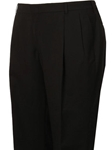 Black H-Tech Pleated Classic Atticus Fit Suit Separate Pant  | HardWick Pants Collection | Sams Tailoring