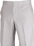 Classic Seersucker Flat Front Classic Atticus Fit Pant  | HardWick Pants Collection | Sams Tailoring