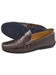 Brown Waverlys Calfskin Penny Loafers  | Bobby Jones Spring 2017  Collection | Sams Tailoring