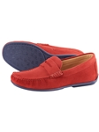 Red Austin Heller Suede Penny Loafers  | Bobby Jones Spring 2017  Collection | Sams Tailoring