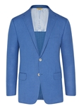Blue Mesh Super 130S Traveler Jacket | Hickey FreeMan Spring Collection 2017 | Sams Tailoring