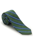 Green, Navy and Sky Stripe Academy Best of Class Tie | Robert Talbott Spring 2017 Collection | Sam's Tailoring