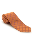Orange With Purple Diamond Design Best of Class FIH Tie | Robert Talbott Spring 2017 Collection | Sam's Tailoring