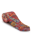 Red, Blue and Orange Paisley Carmel Print Best of Class Tie | Robert Talbott Spring 2017 Collection | Sam's Tailoring