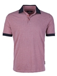 Coral Honeycomb Pique Short Sleeve Polo | Stone  Rose New Arrivals | Sams Tailoring Fine Men Clothing
