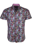 Pink Floral Print Short Sleeve Button Up Shirt | Stone  Rose New Arrivals | Sams Tailoring Fine Men Clothing