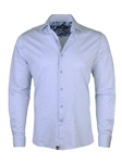 Sky Blue Light Frame Knit Long Sleeve Button Up Shirt | Stone  Rose New Arrivals | Sams Tailoring Fine Men Clothing