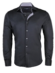 Black Light Frame Knit Long Sleeve Button Up Shirt | Stone  Rose New Arrivals | Sams Tailoring Fine Men Clothing