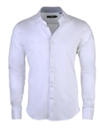 White Light Frame Knit Long Sleeve Button Up Shirt | Stone  Rose New Arrivals | Sams Tailoring Fine Men Clothing