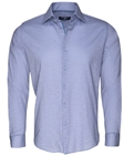 Sky Blue Geometric Print Knit Long Sleeve Button Up Shirt | Stone  Rose New Arrivals | Sams Tailoring Fine Men Clothing