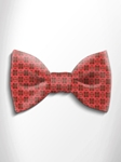 Orange and Red Patterned Silk Bow Tie | Italo Ferretti Spring Summer Collection | Sam's Tailoring