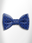 Navy Blue and Blue Patterned Silk Bow Tie | Italo Ferretti Spring Summer Collection | Sam's Tailoring