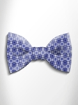Sky Blue and Blue Patterned Silk Bow Tie | Italo Ferretti Spring Summer Collection | Sam's Tailoring
