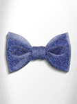Sky Blue, Black and Orange Patterned Silk Bow Tie | Italo Ferretti Spring Summer Collection | Sam's Tailoring