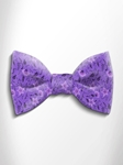 Lilac and Violet Floral Patterned Silk Bow Tie | Italo Ferretti Spring Summer Collection | Sam's Tailoring