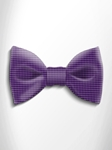 Violet and Black Polka Dot Silk Bow Tie | Italo Ferretti Spring Summer Collection | Sam's Tailoring