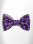 Black and Violet Patterned Silk Bow Tie | Italo Ferretti Spring Summer Collection | Sam's Tailoring