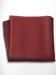 Red and Black Polka Dot Silk Pocket Square | Italo Ferretti Spring Summer Collection | Sam's Tailoring