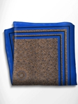 Brown and Blue Patterned Silk Pocket Square | Italo Ferretti Spring Summer Collection | Sam's Tailoring